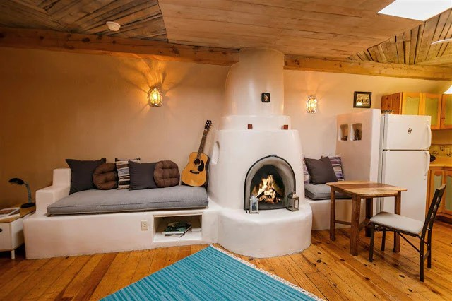 Pueblo Style Tiny Home In Santa Fe With A Mind Blowing