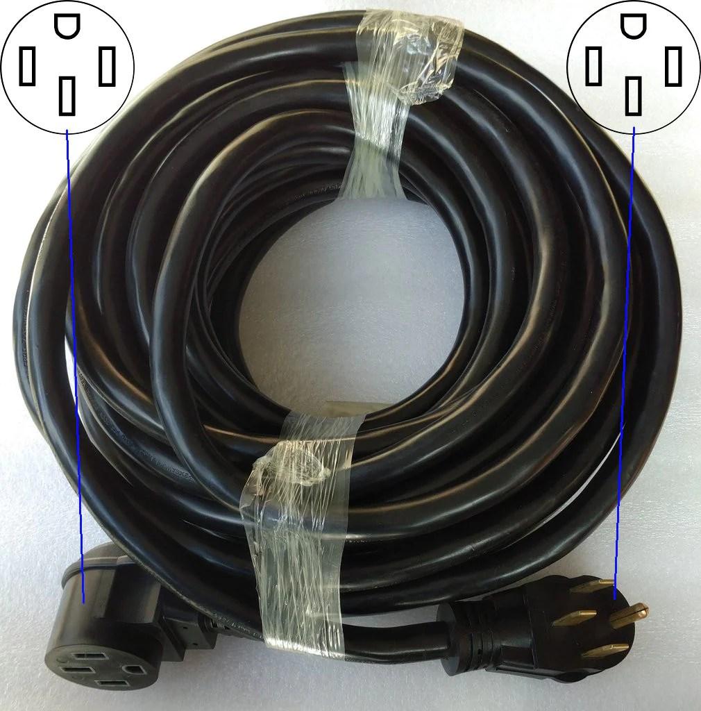heavy duty nema 14 50r extension cord for rvs evs etc  [ 1010 x 1024 Pixel ]
