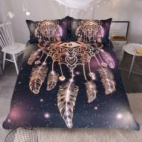 Dreamcatcher Purple/Black Bedding Set 3pcs  wolvestuff