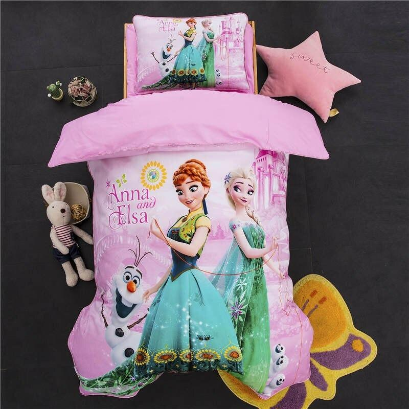 frozen bed set elsa pink bedding sets bed linens baby girl 47 x59 cotton 3d comforter