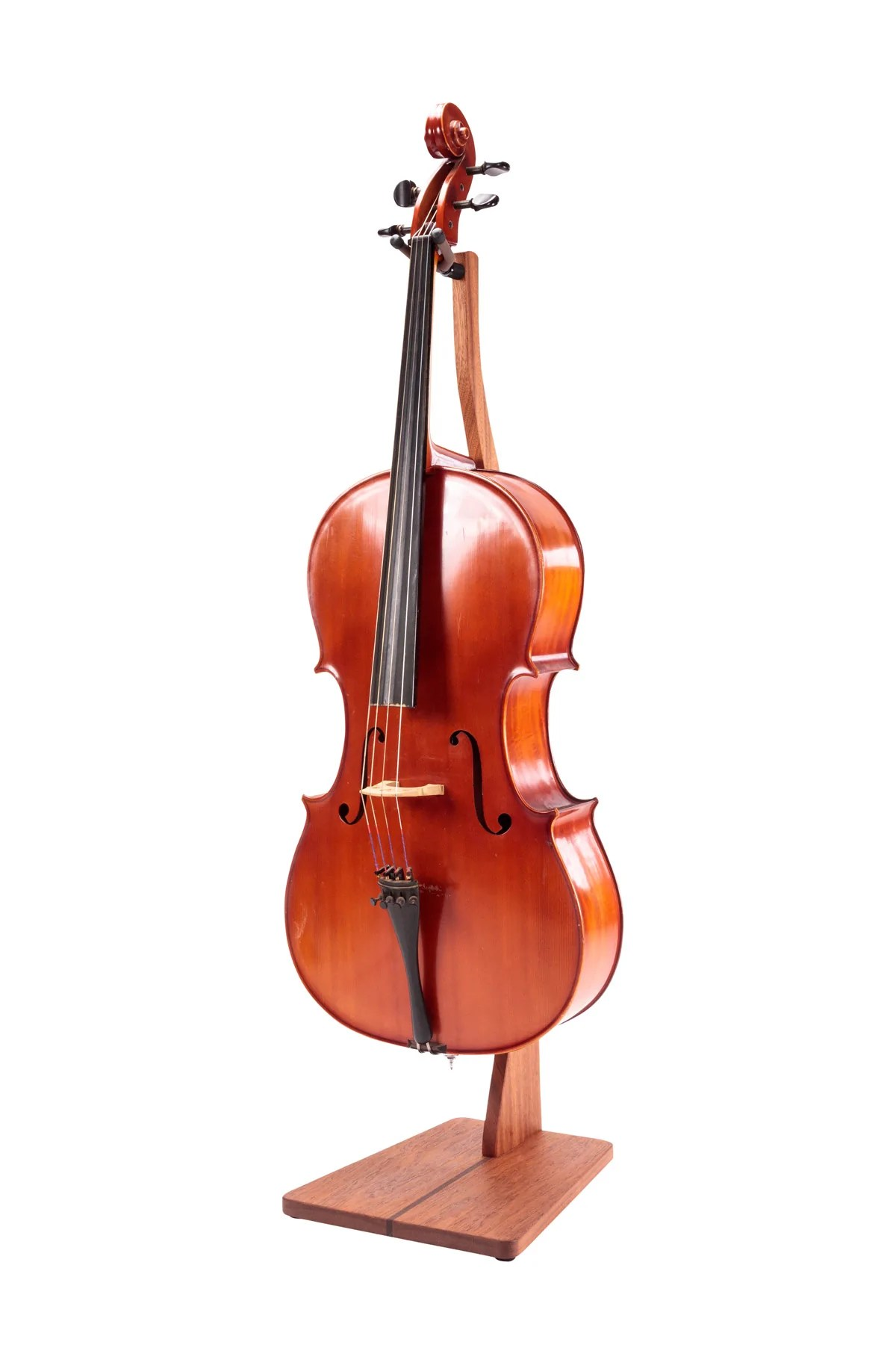 Zither Handcrafted Wood Cello Stand With Bow Holder
