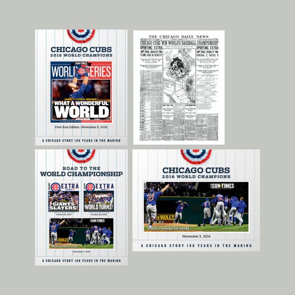 chicago sun times 2016 world series poster collection