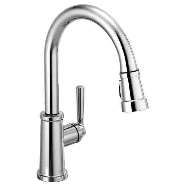 peerless p7923lf westchester single handle pull down kitchen faucet