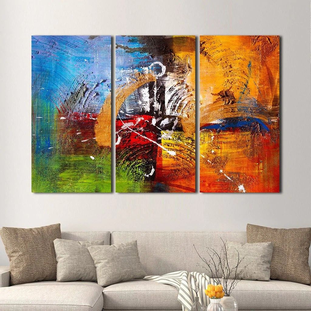 Abstract Oil Painting Multi Panel Canvas Wall Art