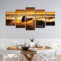 Cutting The Wave Multi Panel Canvas Wall Art | ElephantStock