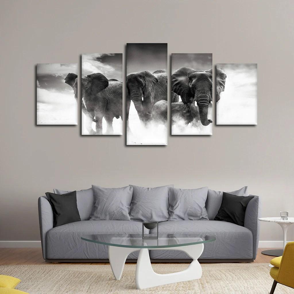 elephant family multi panel