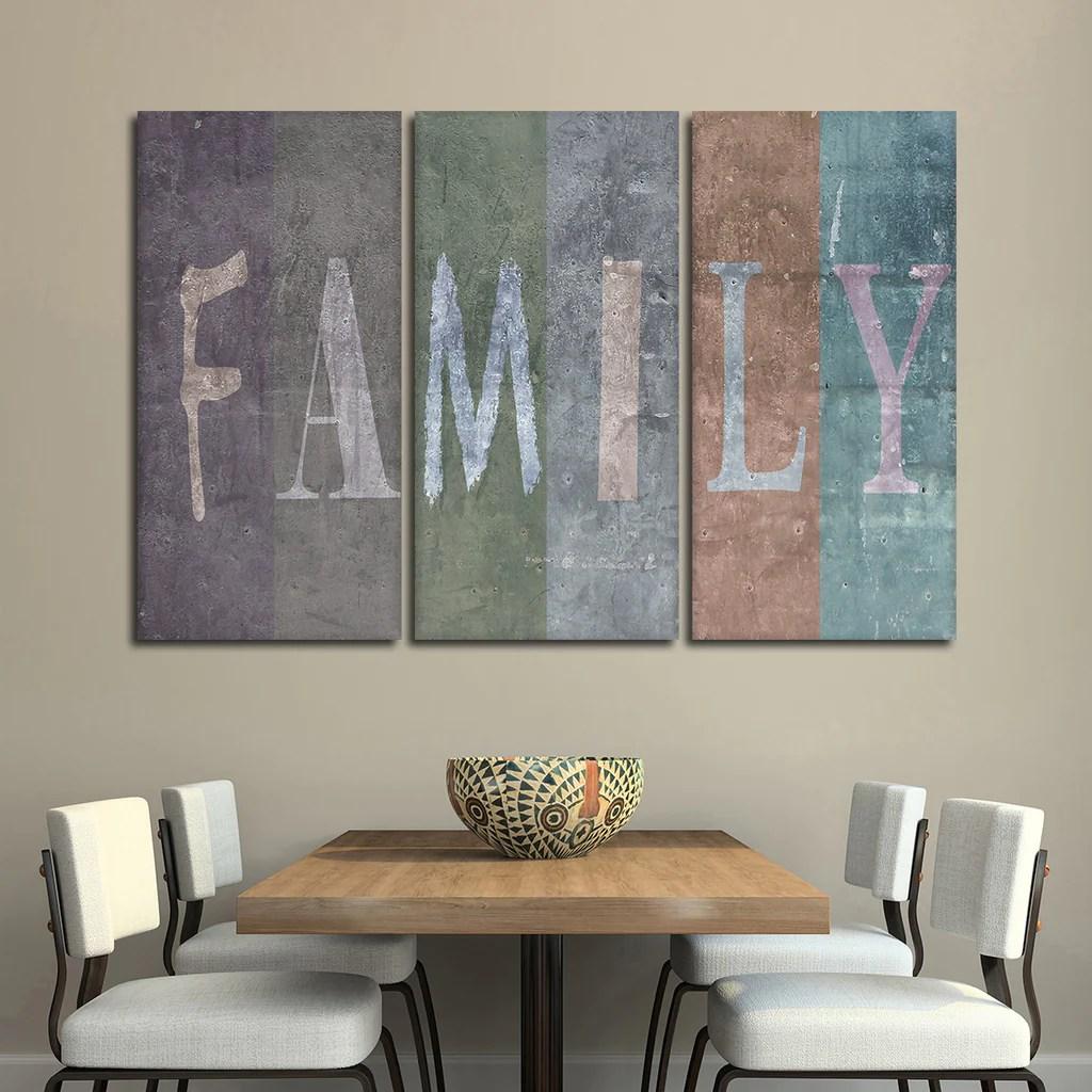 Family Multi Panel Canvas Wall Art Elephantstock