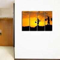 Saigon Sunset Multi Panel Canvas Wall Art  ElephantStock