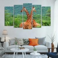Giraffe Love Multi Panel Canvas Wall Art  ElephantStock