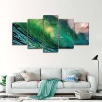 Hawaiian Wave Multi Panel Canvas Wall Art | ElephantStock