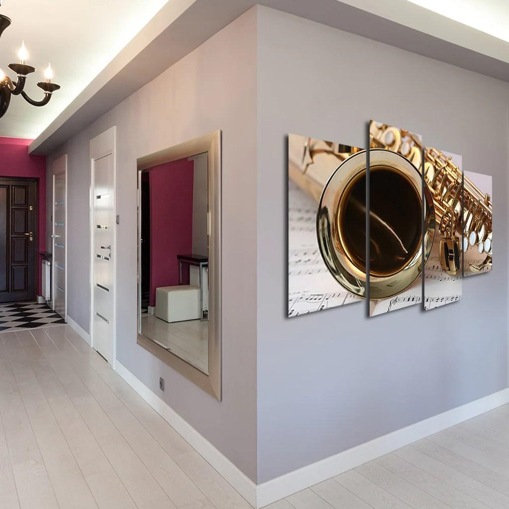 Jazz Multi Panel Canvas Wall Art Elephantstock