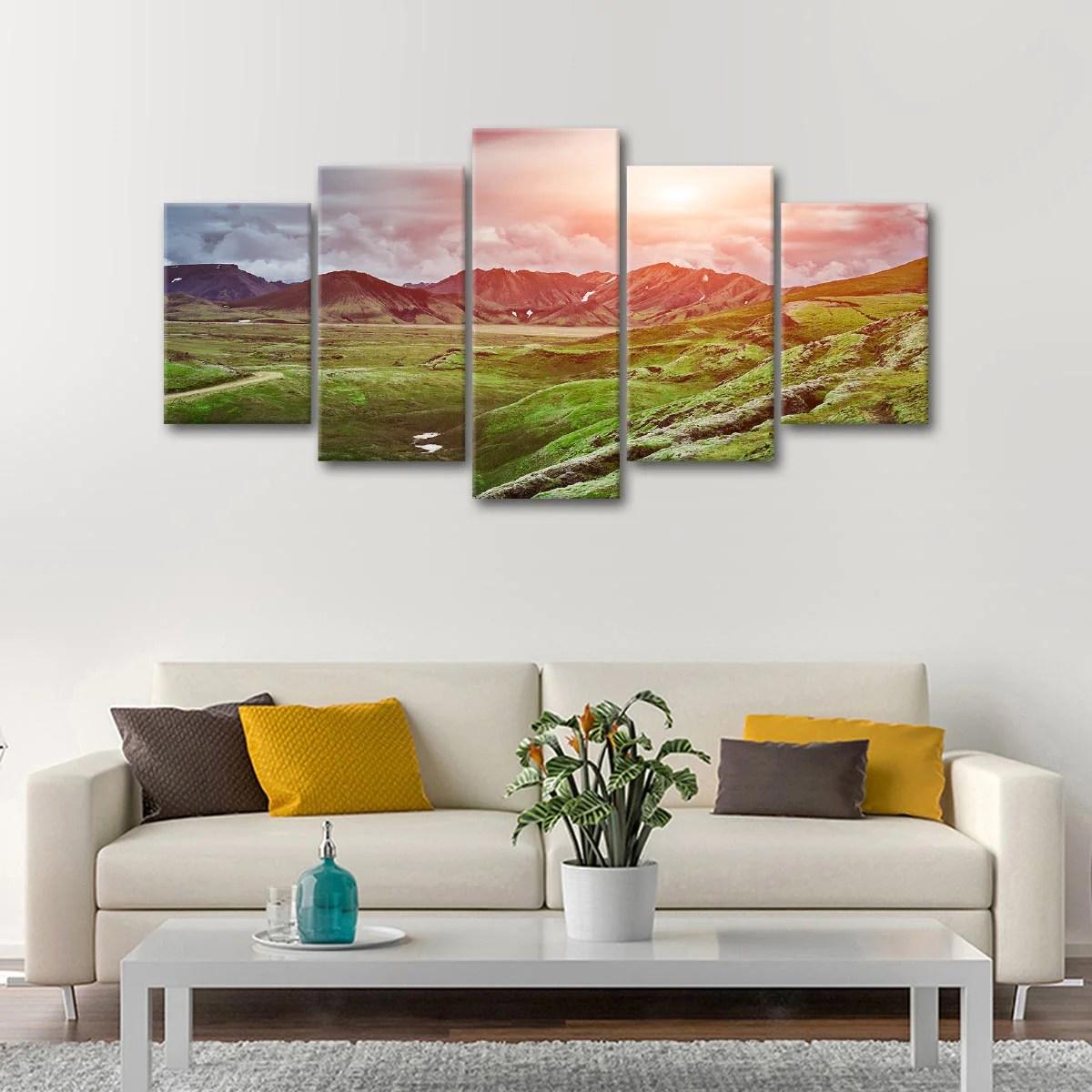 Landmannalaugar Highlands Multi Panel Canvas Wall Art