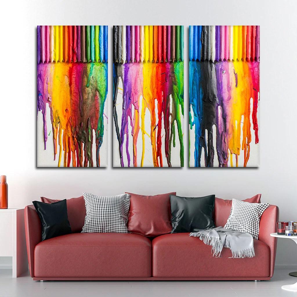 Melted Crayon Art Multi Panel Canvas Wall Elephantstock