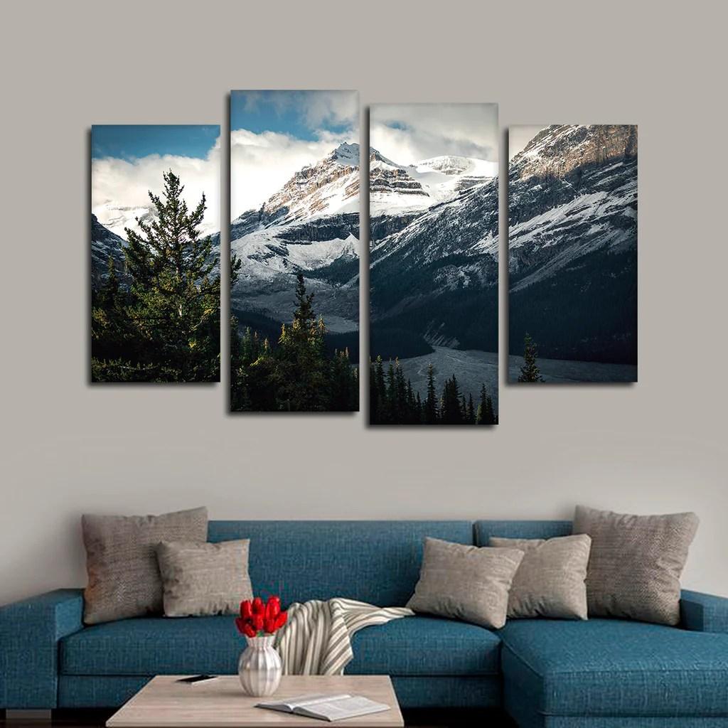 Mountain Top Multi Panel Canvas Wall Art Elephantstock