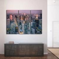 New York Skyline Multi Panel Canvas Wall Art | ElephantStock