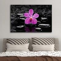 Purple Orchid Multi Panel Canvas Wall Art | ElephantStock