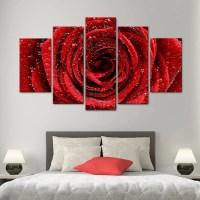 Red Rose Multi Panel Canvas Wall Art | ElephantStock