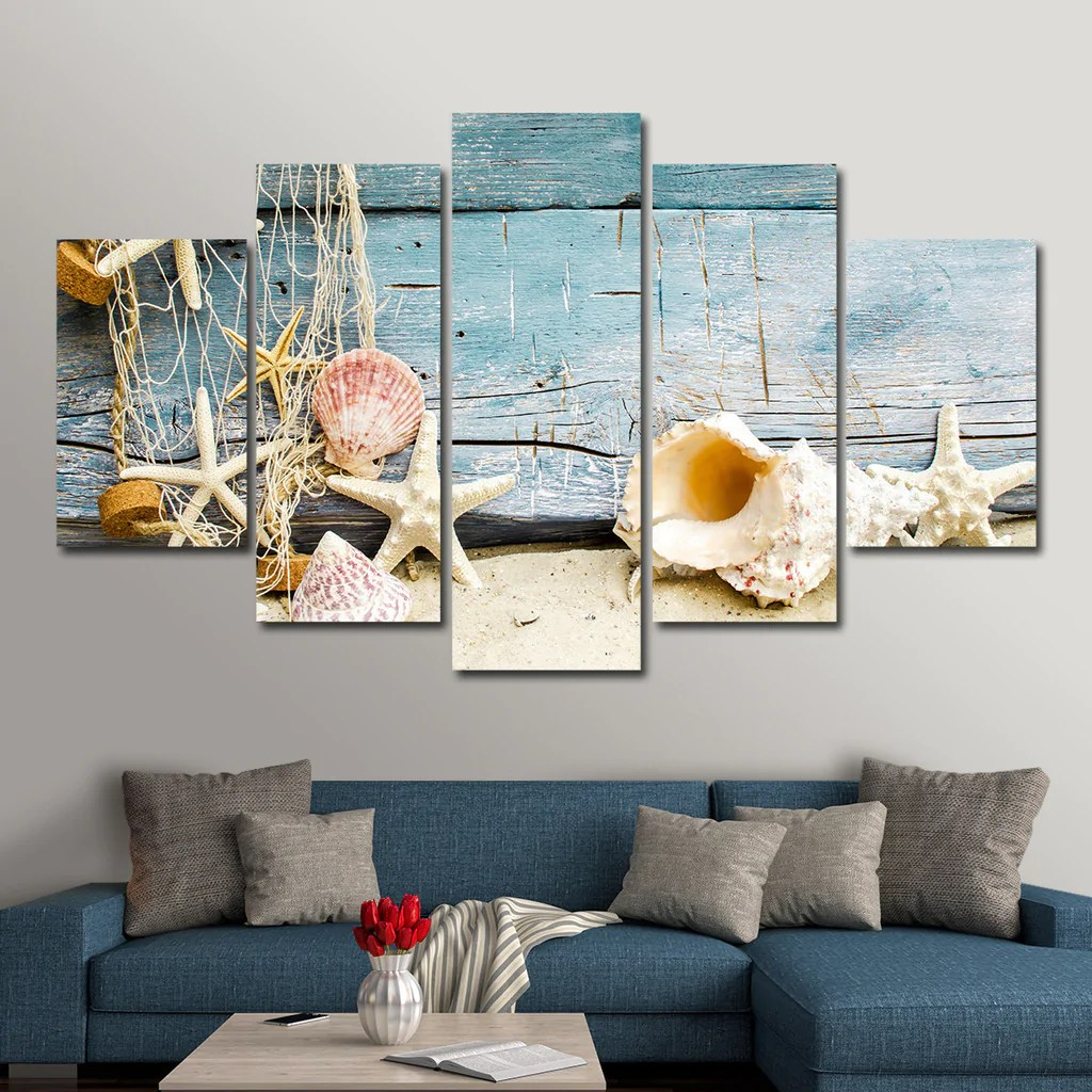 Seashells Multi Panel Canvas Wall Art Elephantstock