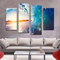 The Wave Multi Panel Canvas Wall Art | ElephantStock