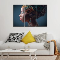 Traditional African Multi Panel Canvas Wall Art ...