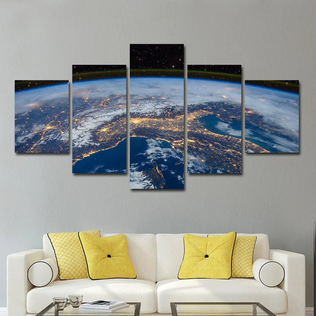 Usa Space Multi Panel Canvas Wall Art Elephantstock