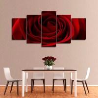 Valentine Red Rose Multi Panel Canvas Wall Art | ElephantStock