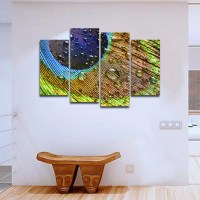 Water Drop Feathers Multi Panel Canvas Wall Art ...