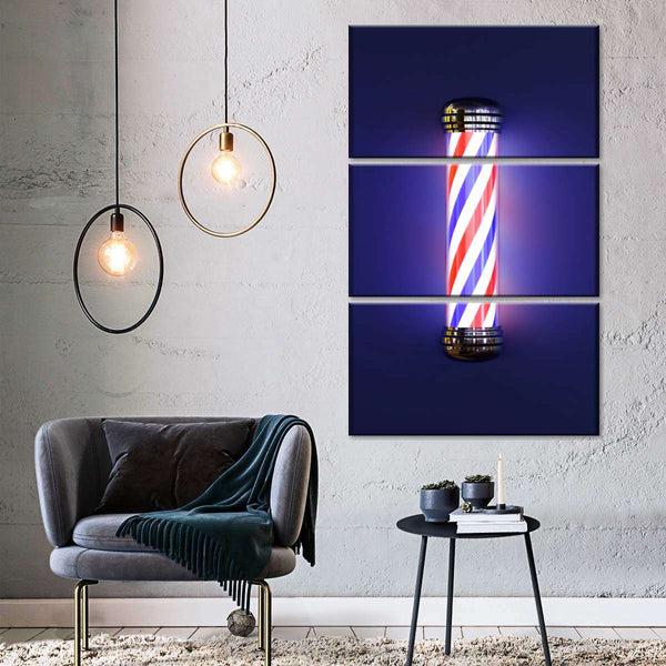 Barber Pole Multi Panel Canvas Wall Art