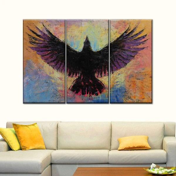 Crow Multi Panel Canvas Wall Art