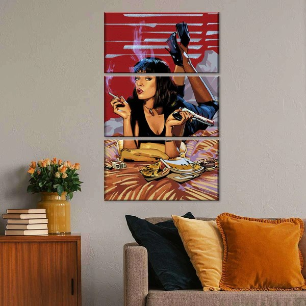Pulp Fiction Tarantino Multi Panel Canvas Wall Art