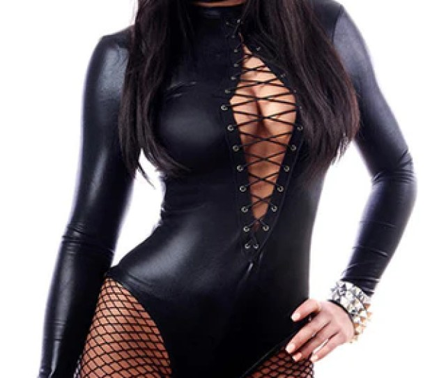 Women Sexy Lingerie Hot Faux Leather Latex Fashion Sexy Costumes Lenceria Sexy Underwear Babydoll Nuisette A1066