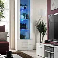 Tall Living Room Cabinets Narrow Furniture Placement Cabinet Neo I Ii White Aberdeen Gloss
