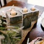 Farmhouse Tea Light Candle Holder Distressed White And Gray Cc S Country Corner