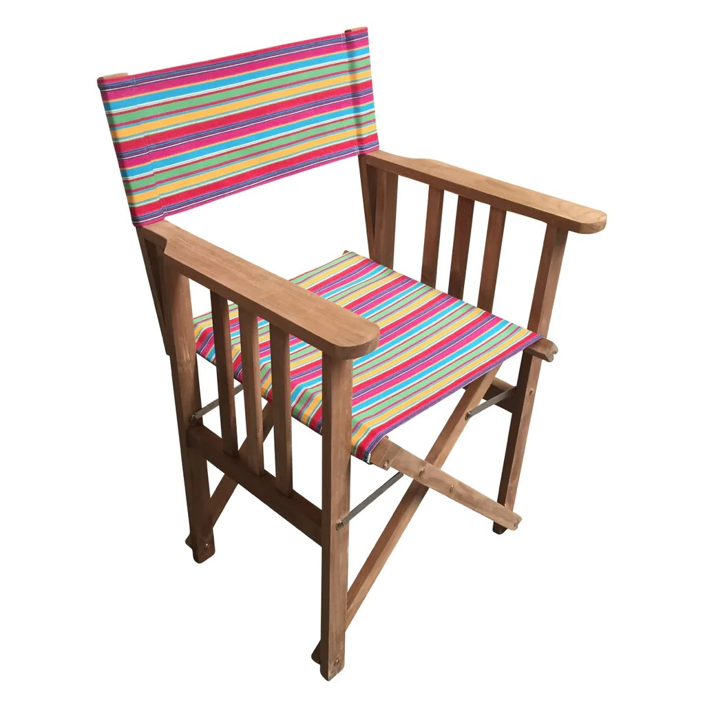 directors chair covers uk stressless side table karting pink striped deckchair stripes