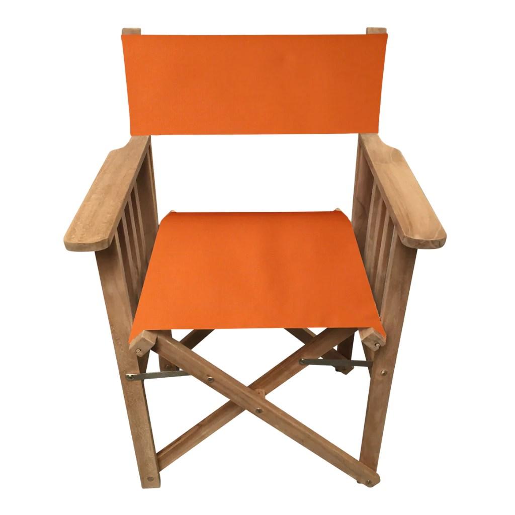 striped directors chairs black restaurant orange chair deckchair stripes