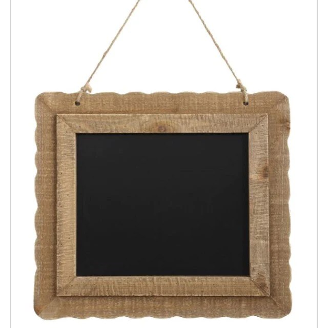 chalkboard with wood frame