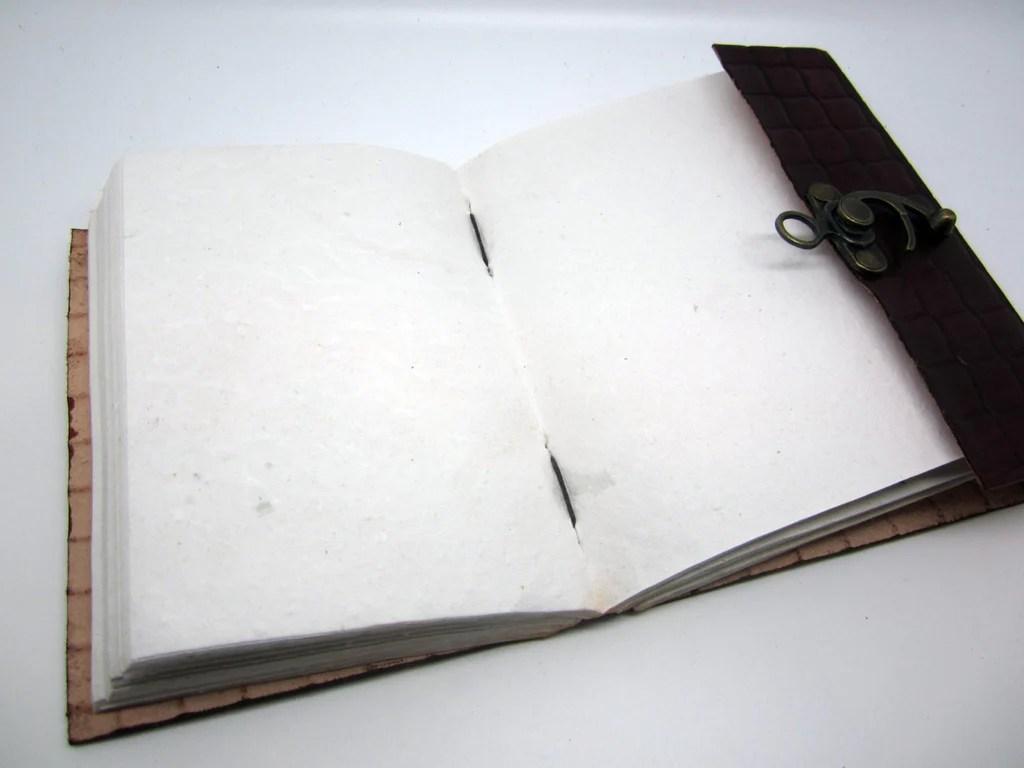 dark green leather journal