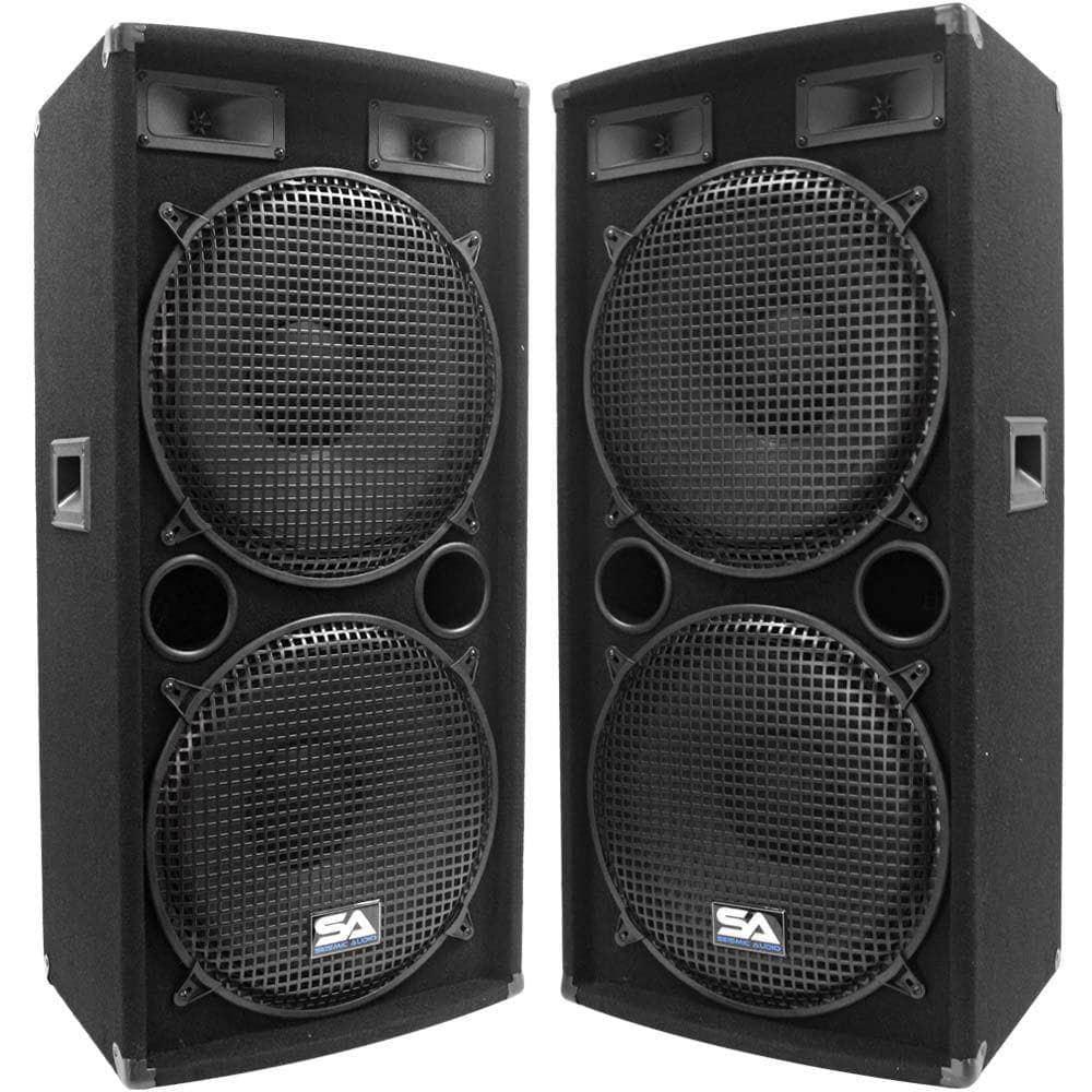 medium resolution of sa 155 2 pair of dual 15 pa dj band speakers
