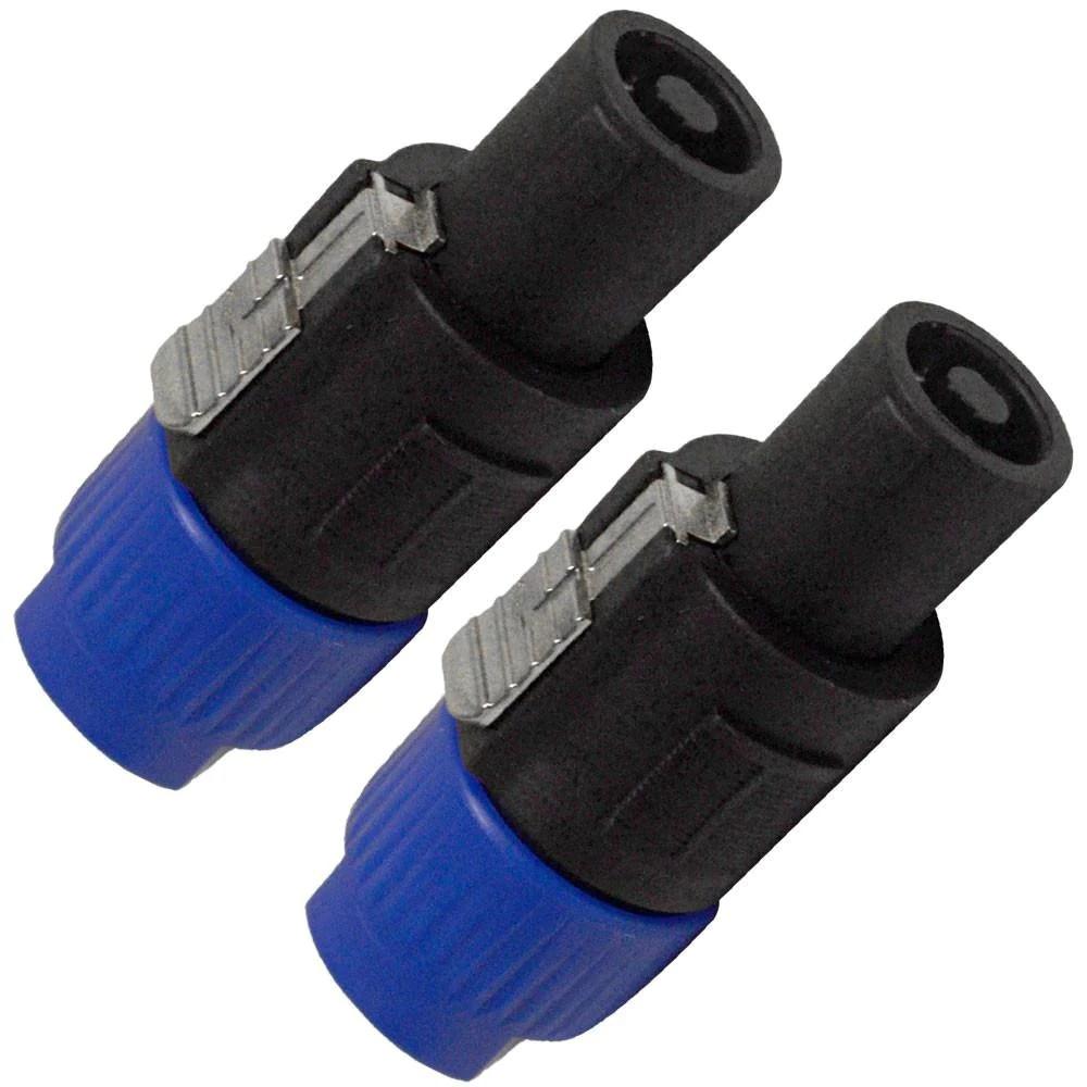 pair of speakon jack to 1 4 inch female adapters convert mono speaker cables to speakon 2 pole wiring seismicaudio [ 1000 x 1000 Pixel ]