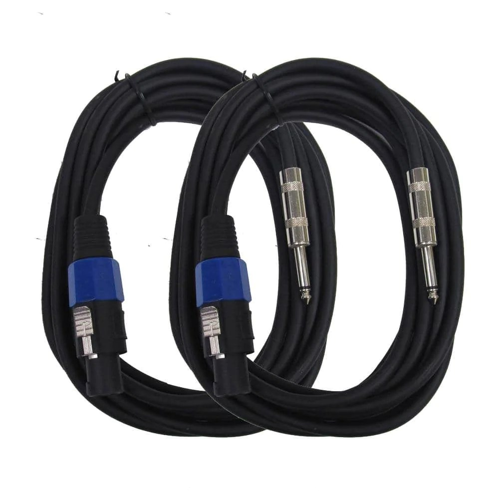 medium resolution of saspt14 15 pair of speakon to 1 4 speaker cables