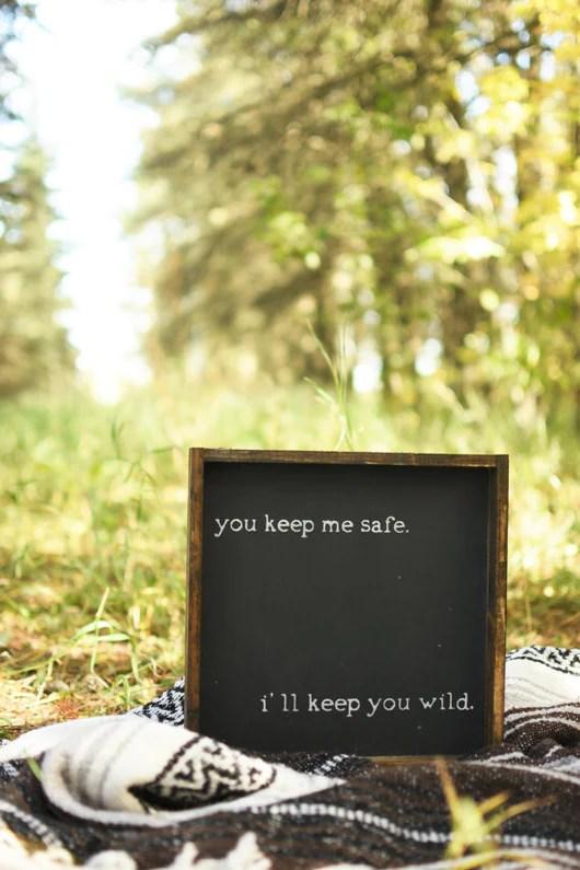 You Keep Me Safe Sign Modern Rustic Home