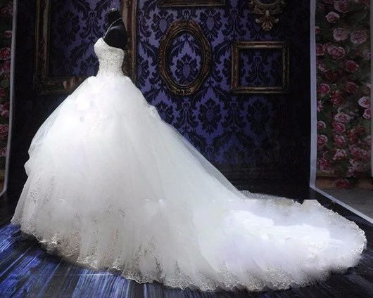 Plus Sized Beaded Ball Gown Wedding Dress At Bling Brides