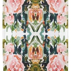 Art For The Kitchen Window Valance Peach Roses Tea Towel L Rempel