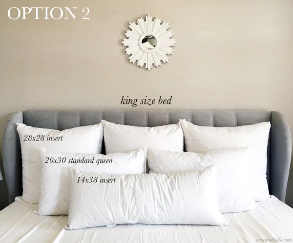 Pillow Size Guide for King Beds  Arianna Belle