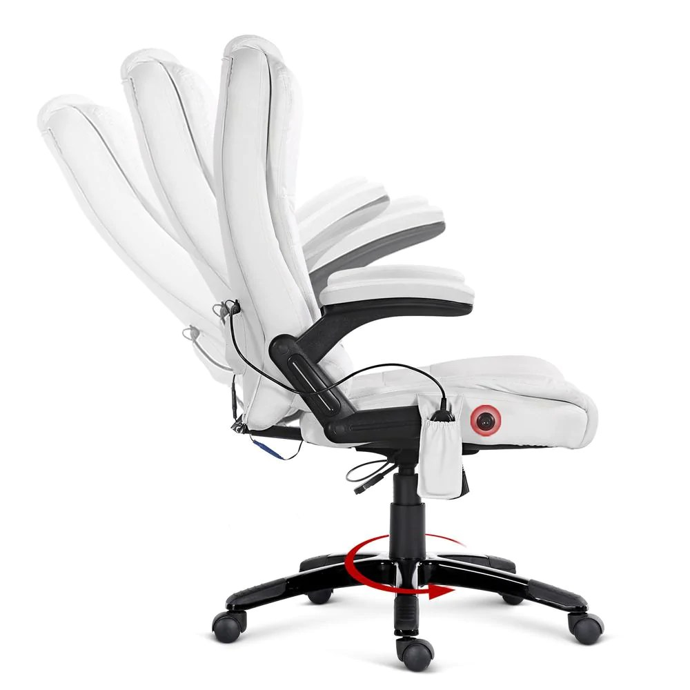 Massage Office Chair Woody Massage Office Chair White