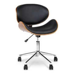 Meeting Room Chairs Steel Office Chair Cost Just Ellis Walnut Base 55cm Black