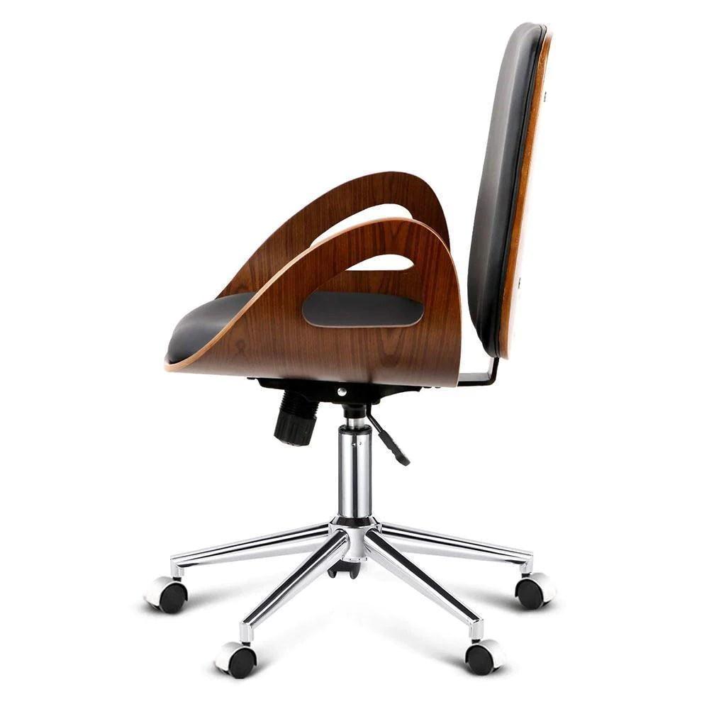 wood office chair plastic bar chairs bunnings just eve executive walnut black