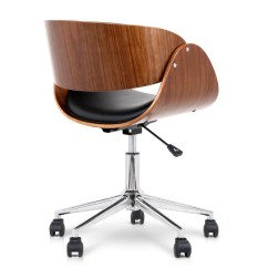 Wood Office Chair Chairs White Just Hopkins Black