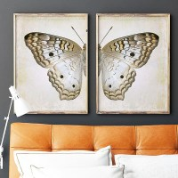 Grey Pansy Butterfly Diptych Wall Art Printables  Chaos ...