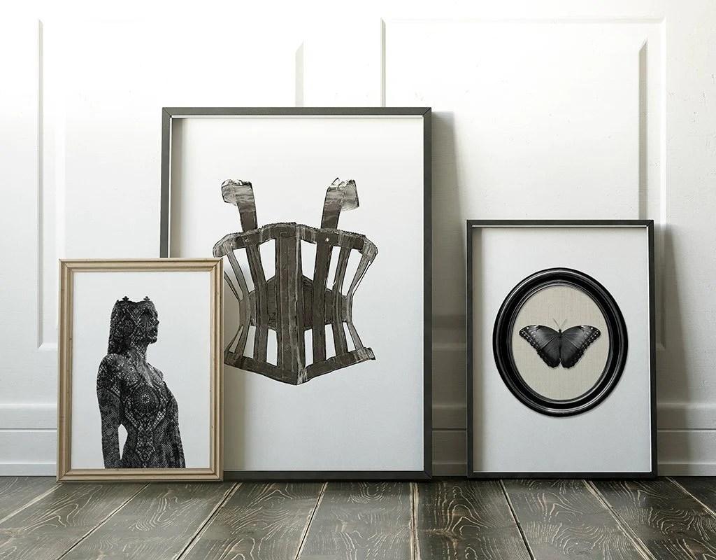 Victorian Gothic Corset Modern Fashion Illustration Art